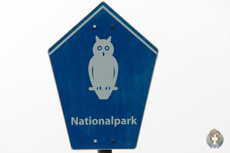 Das Schild Nationalpark Wattenmeer