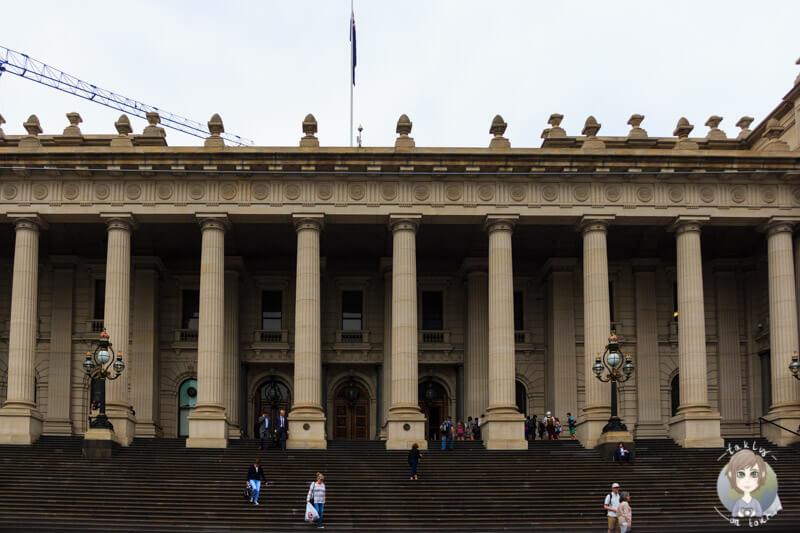 Blick auf das Parlamentsgebäude Melbourne