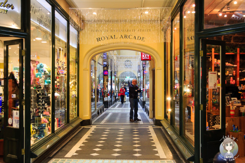Die Royal Arcade in Melbourne