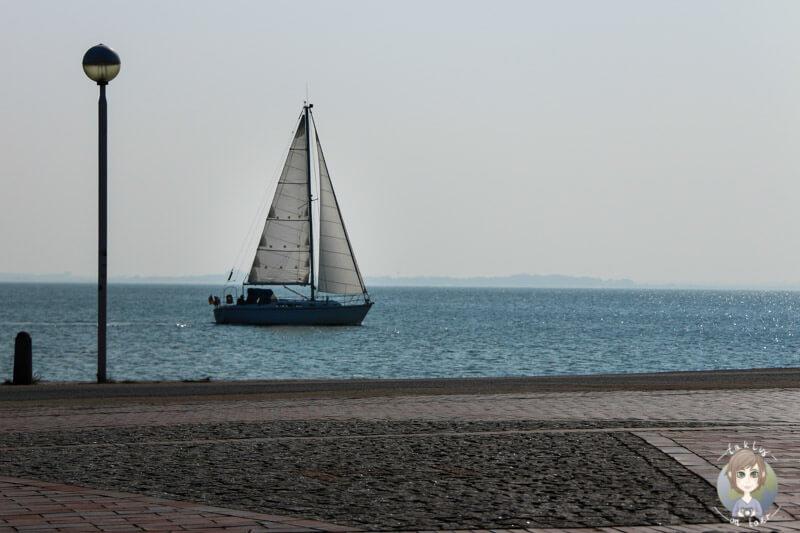 Ein Segelboot auf der Nordsee