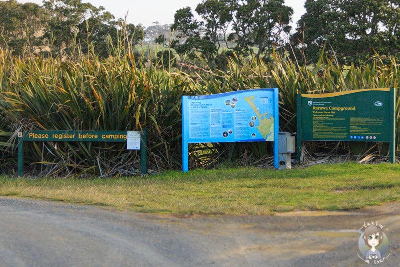 Camping Self Registration auf einem Campingplatz in Neuseeland