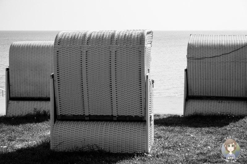 Strandkörbe in Wilhelmshaven, Deutschland