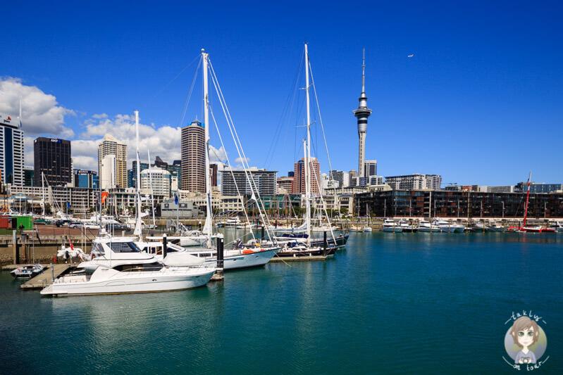 Blick auf die Skyline von Auckland, Neuseeland