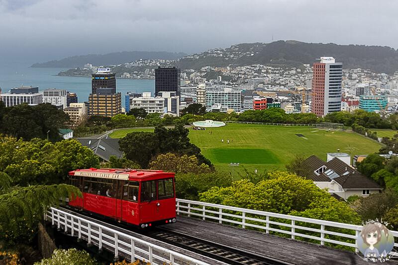 Postkartenperspektive von Wellington, Neuseeland