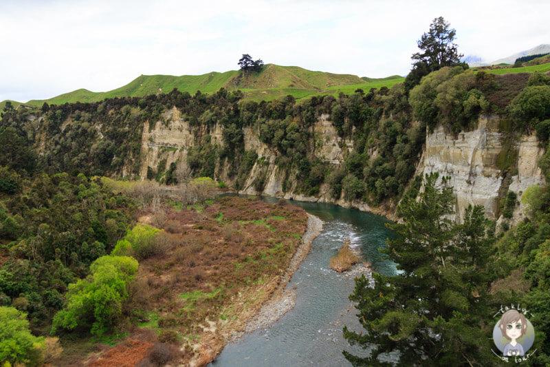 Ausblick auf der Fahrt von Taupo nach Haumoana, Neuseeland