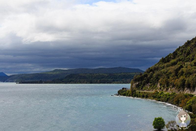Blick auf den Lake Taupo, Neuseeland