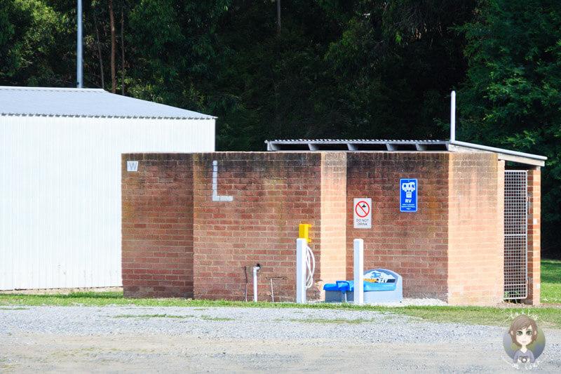 Dumppoint am Sportplatz in Meeniyan, Australien