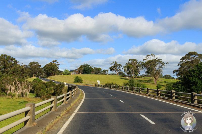 Road to Meeniyan, Victoria, Australien