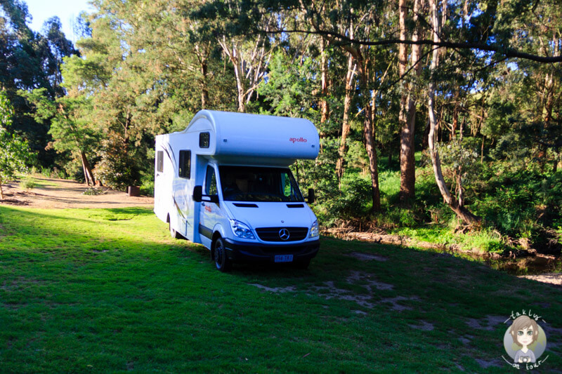Camping am Franklin River, Toora