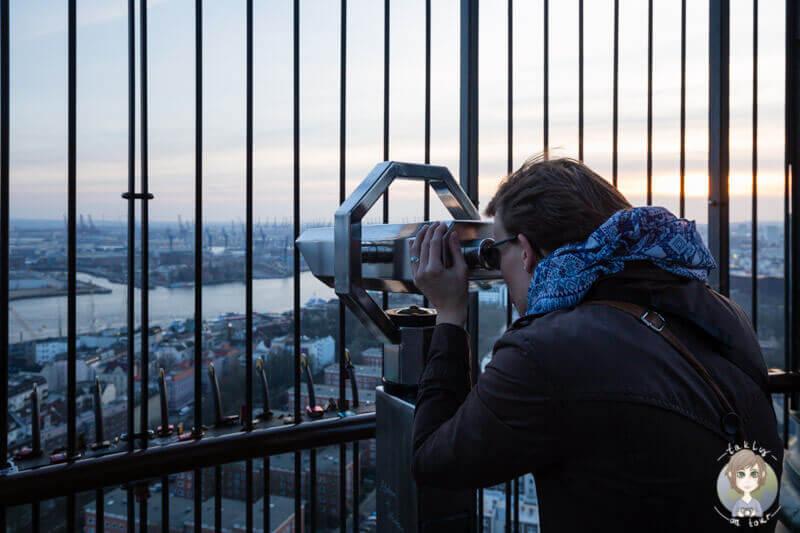 Ausblick vom Michel in Hamburg