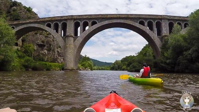 Ein toller Anblick, die Brücke über der Loire, Auvergne, France