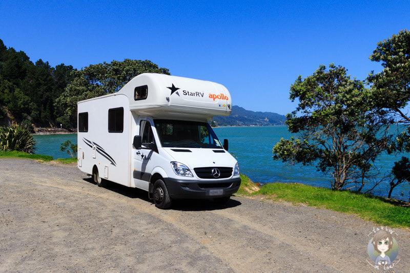 Mit dem Camper entlang der Coromandel Peninsula, New Zealand