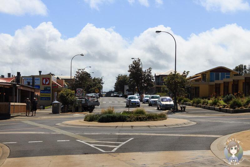 Fahrt durch Port Campbell, Victoria