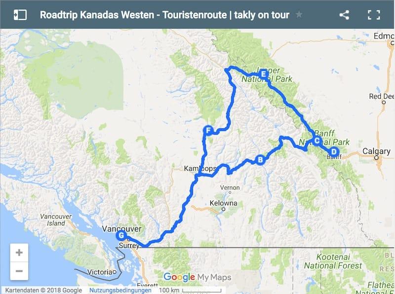 Routen für einen Roadtrip durch Kanadas Westen