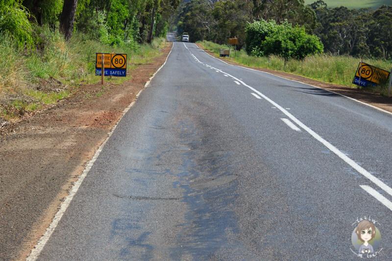 Schlechte Straßenverhältnisse in Victoria