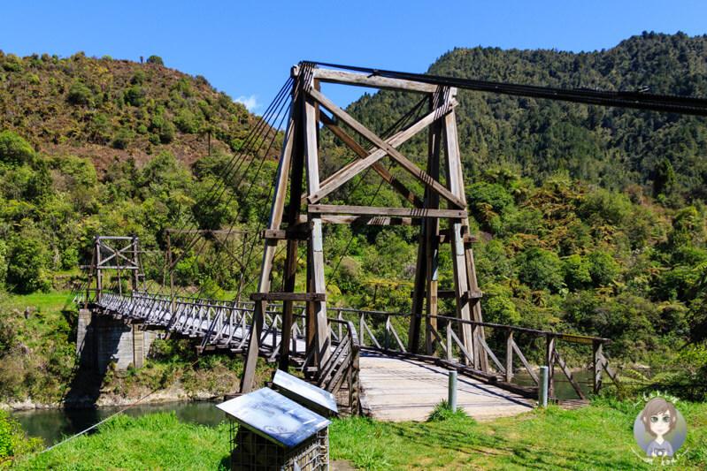 Tauranga Bridge auf dem Weg von Gisborne nach Opotiki, Neuseeland