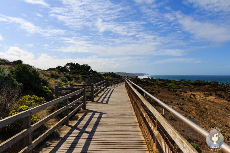 Holzweg bei dem Aussichtspunkt der Zwölf Apostel, Great Ocean Road