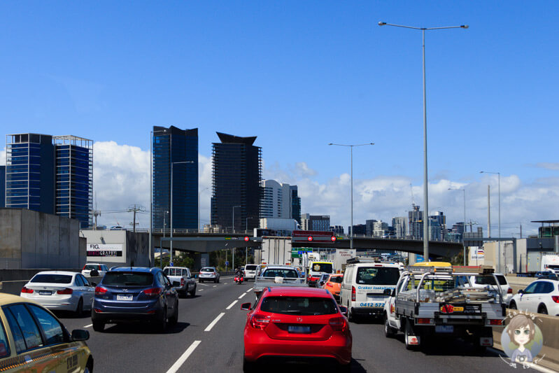 Der Westgate Freeway in Melbourne, Victoria