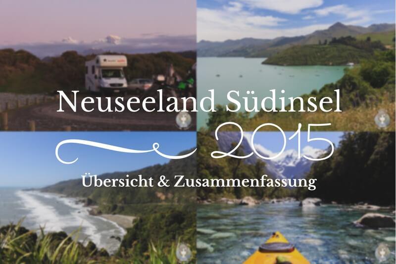 Unsere Route über die Neuseeland Südinsel mit dem Camper - takly on tour