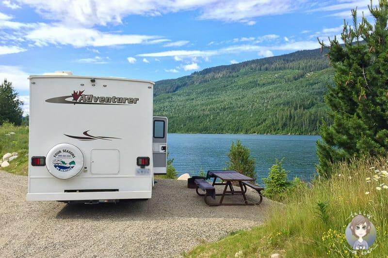 Kanada Reisen mit dem Wohnmobil sind besonders schoen, wie hier am Martha Creek