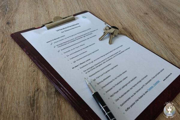 Die Urlaubscheckliste zum Ausdrucken und Abhaken fuer deinen Urlaub