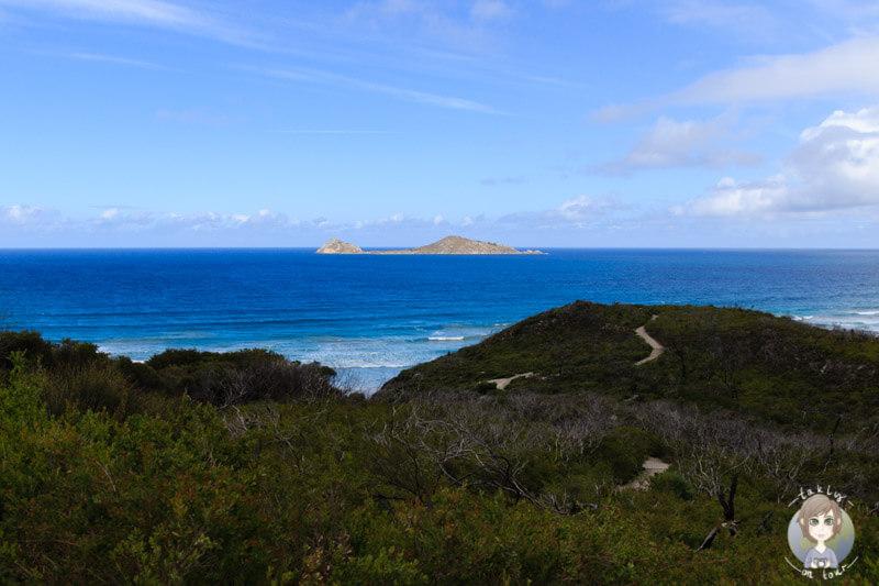 Blick auf Norman Island, Wilson Prom, Victoria, Australien