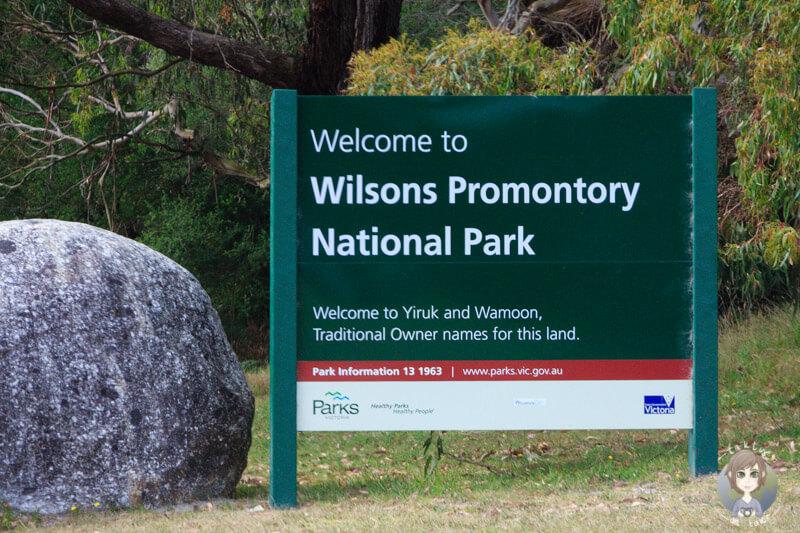 Entrance Wilsons Promontory National Park, Victoria, Australien