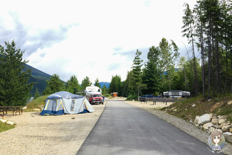 Martha Creek Provincial Park Campground, BC, Kanada