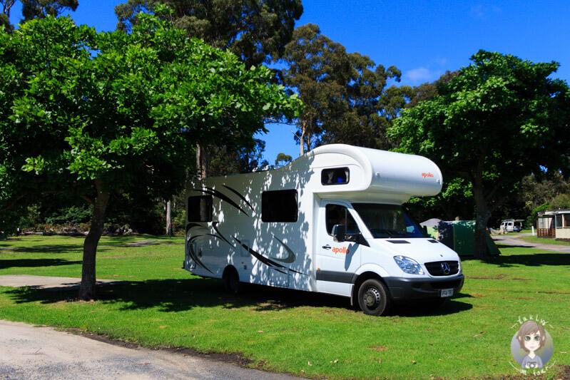 Campsite, Eden Gateway Holiday Park, Eden, New South Wales, Australien