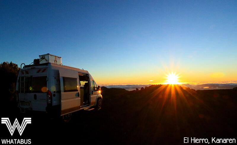 Sonnenuntergangsstimmung beim Wildcamping