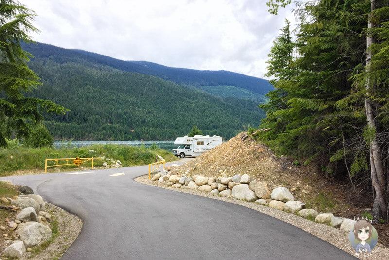Zufahrt zum Martha Creek Provincial Park, BC, Kanada