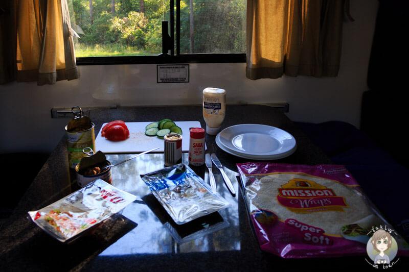 Abendessen im Camper, Australien