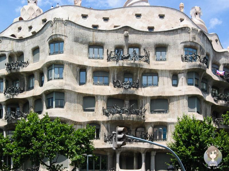 Casa Mila ein Werk von Gaudí in Barcelona, Spanien