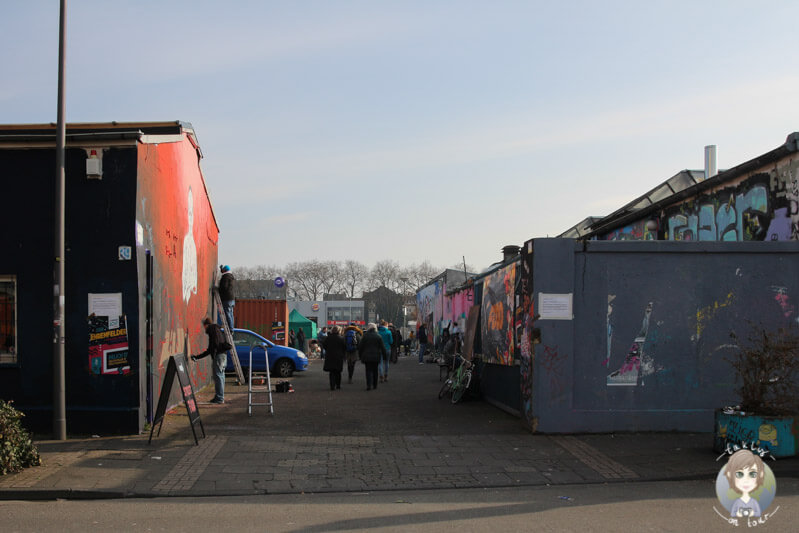 Eingang des Street Food Festivals in Köln