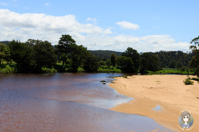 Kleiner Strandabschnitt am Princes Highway, NSW, Australien