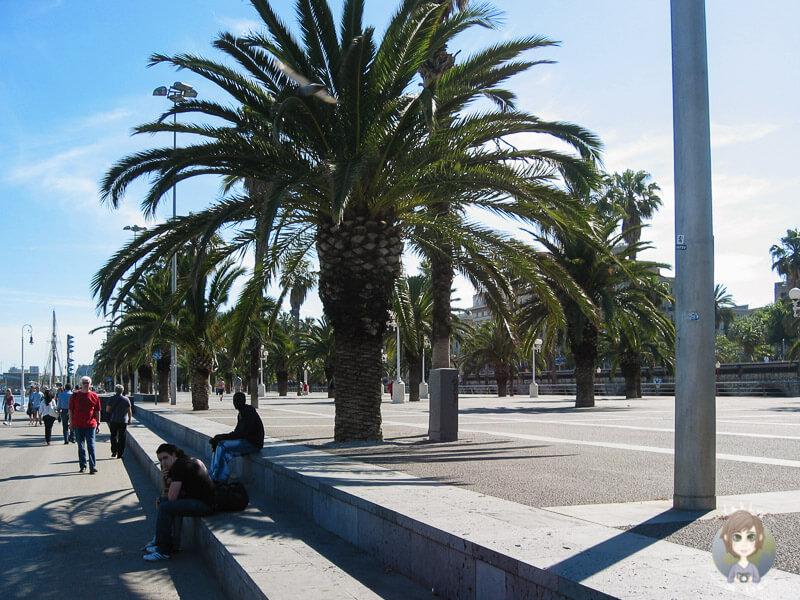 Die Promenade in Barcelona