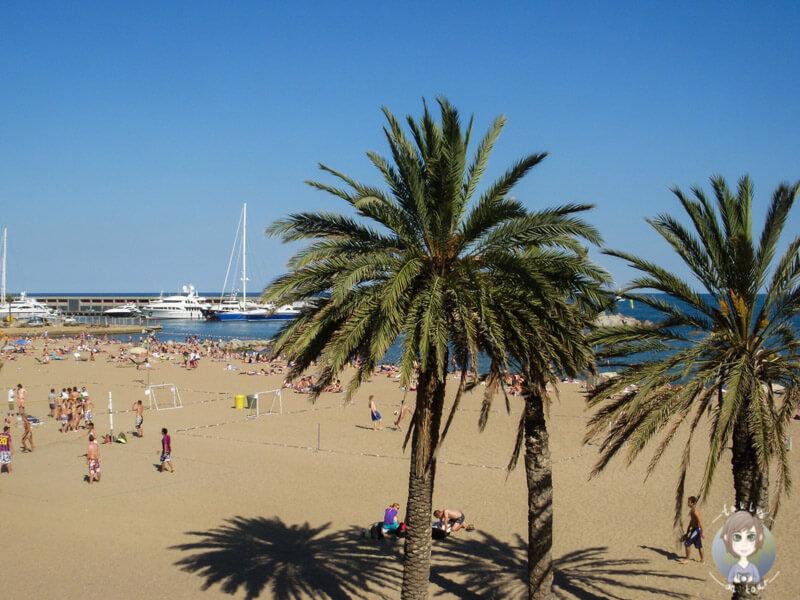 Sandstrand in Barcelona, Spanien