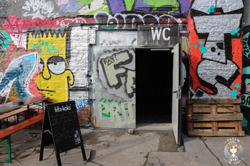 Toilette auf dem Heliosgelände, Street Food Festival, Köln