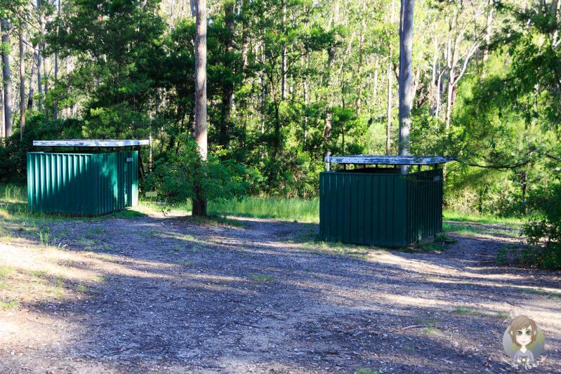 Toiletten auf der Bodalla Forest Campingarea, NSW