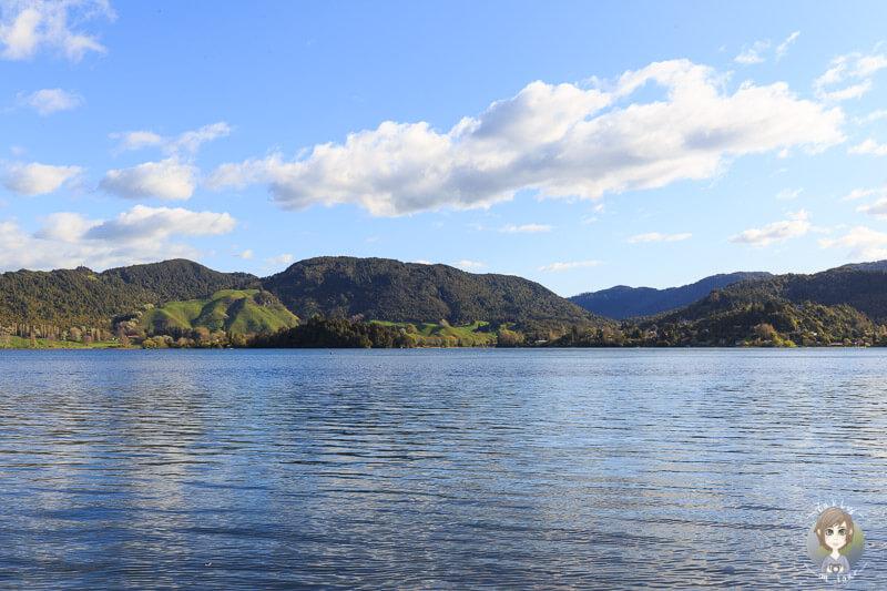 Aussicht auf den Lake Okareka, Neuseeland