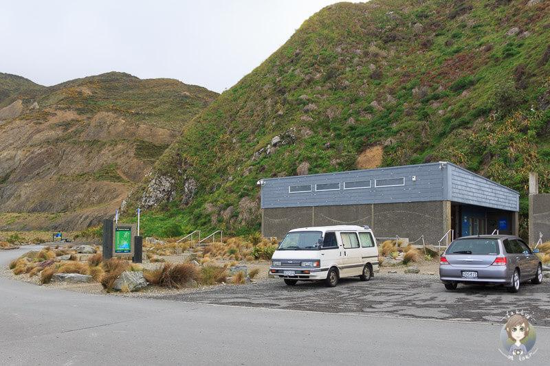 Besucherzentrum im Te Kopahou Reserve