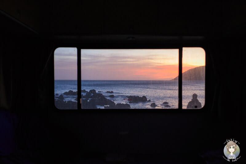 Blick auf den Sonnenuntergang im Te Kopahou Reserve, Wellington