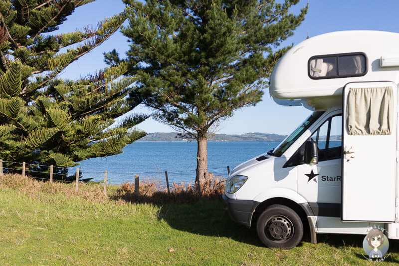 Camping am Simpsons Beach, Neuseeland