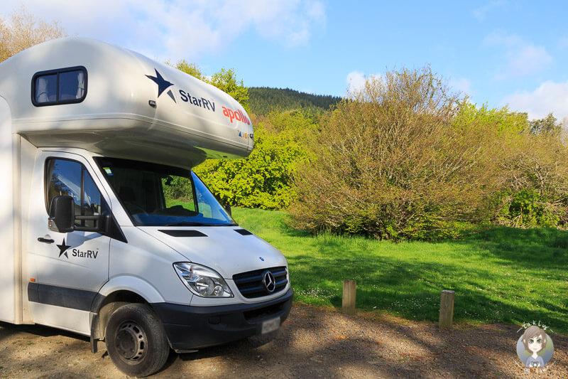 Camping auf dem Waikawa DOC - Neuseeland