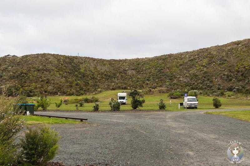 Campingplatz in der Kai Iwi Lakes Region, Northland, Neuseeland