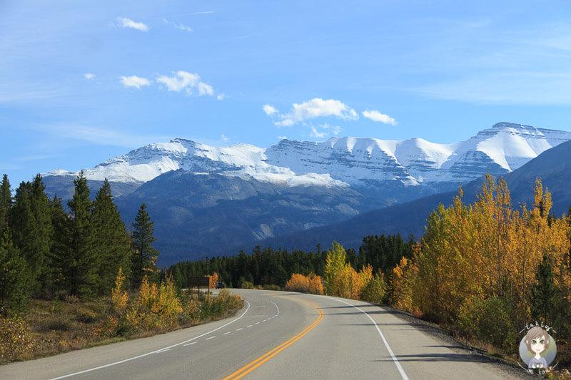 Atemberaubende Fahrt über den Icefields Parkway in Alberta