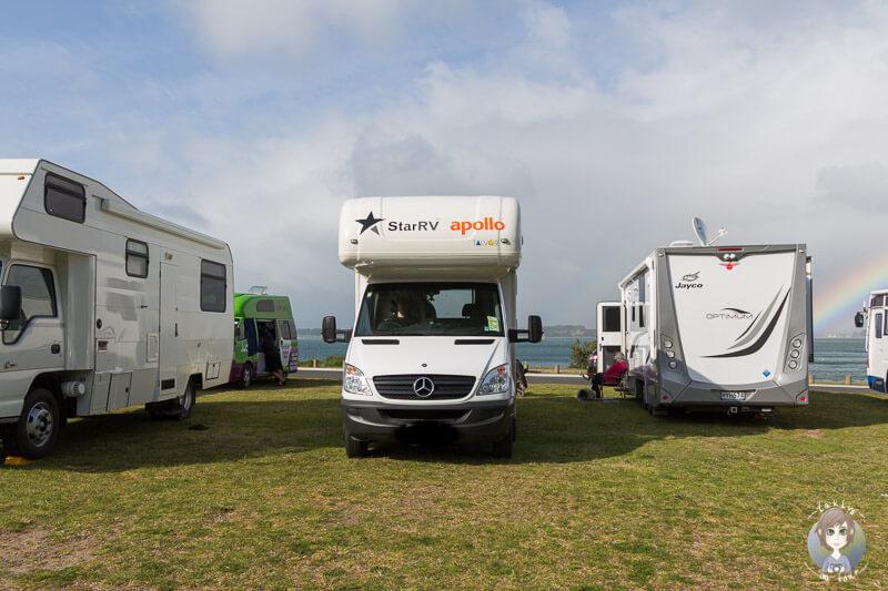 Freedom Camping Bowentown Domain, Waihi Beach, Neuseeland