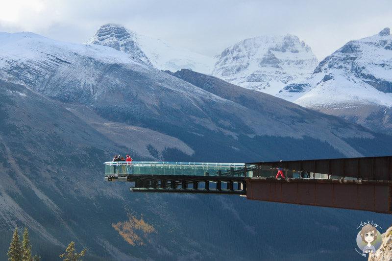 Der Glacier Skywalk auf dem Icefields Parkway in Alberta Kanada