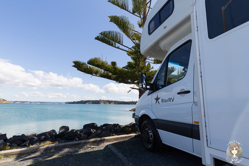 Freedom Camping am Gulf Harbour, Neuseeland Nordinsel
