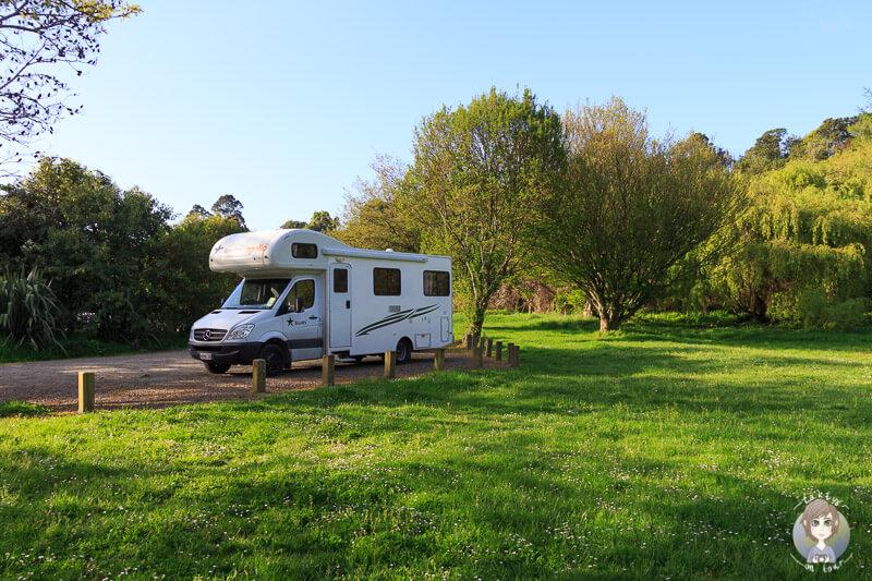 Schöner DOC Campingplatz in Neuseeland